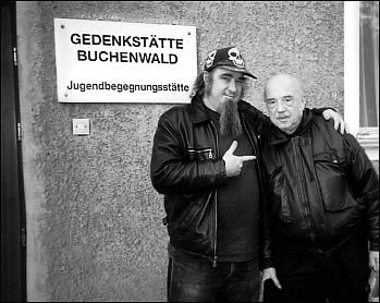 Clayton Patterson and Boris Lurie 1998 at Buchenwald Concentration Camp Memorial