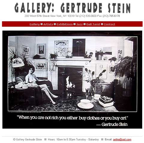 GALLERY: GERTRUDE STEIN | homepage | click & view